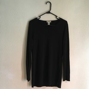 Long Sleeve, Black Top/Dress